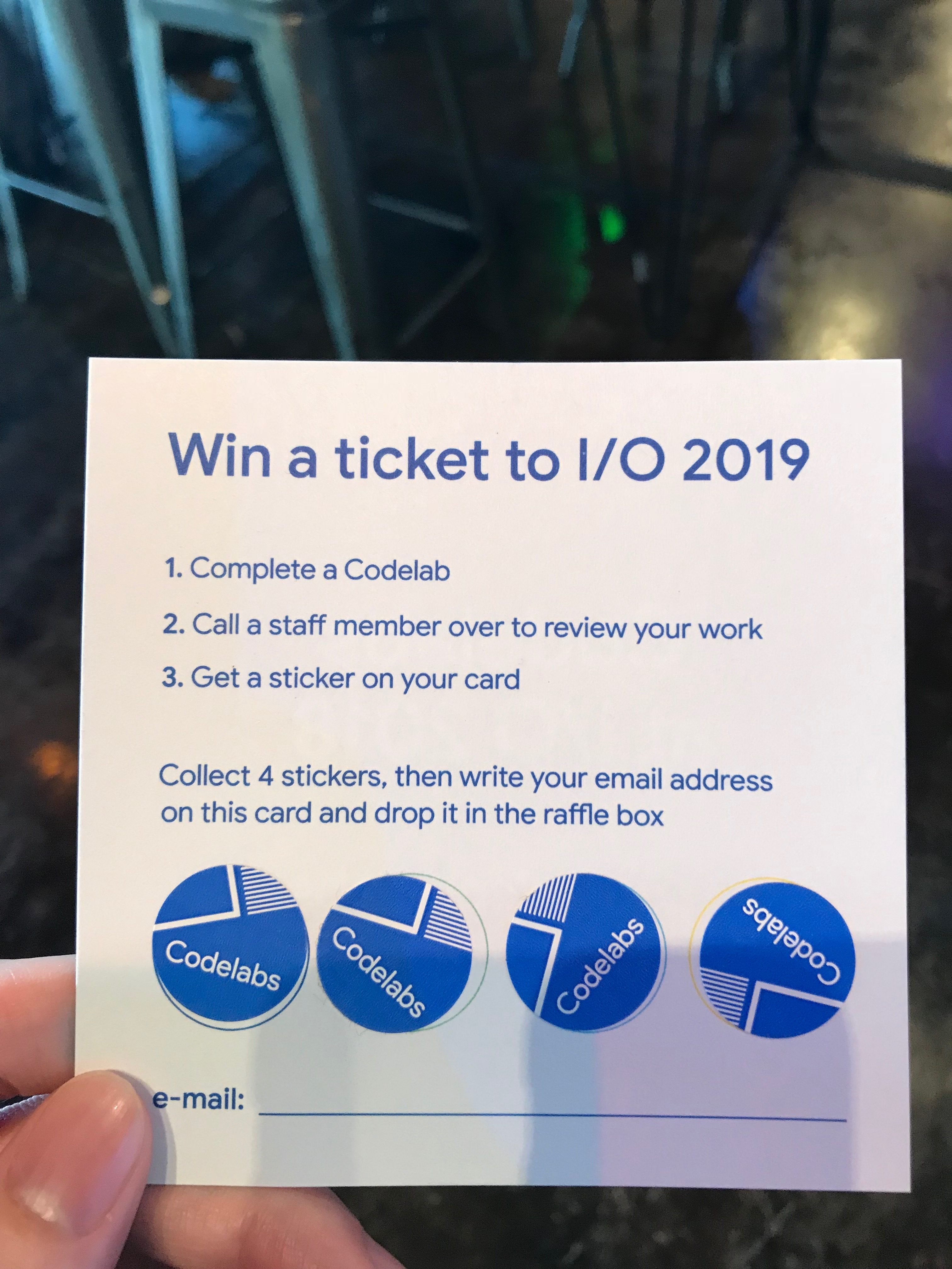 Win a ticket to io 2019
